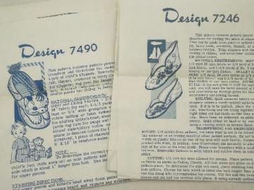 vintage sewing patterns for  slippers, Laura Wheeler or Alice Brooks designs