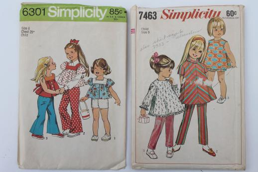 Vintage Sewing Patterns Lot 70s Childrens Clothes Retro Jumpers