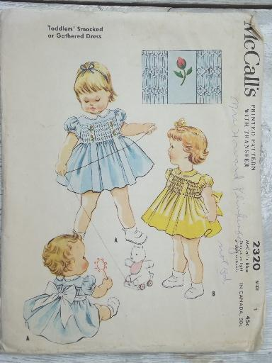 vintage sewing patterns lot, frilly full skirted dresses for little ...