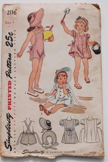 Vintage Sewing Patterns Lot Infant Layette Baby Clothes
