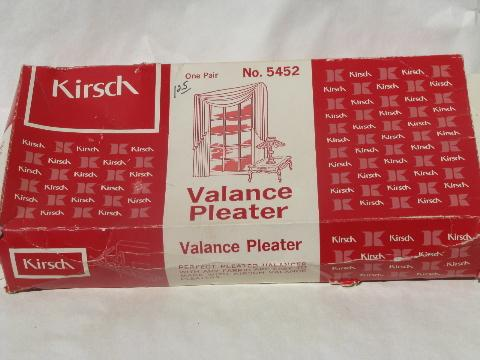 vintage sewing pleater, curtain drapery valance pleat maker w/ instructions