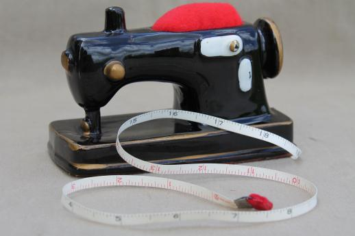 Vintage Sewing Stand W Pincushion Amp Tape Measure Antique