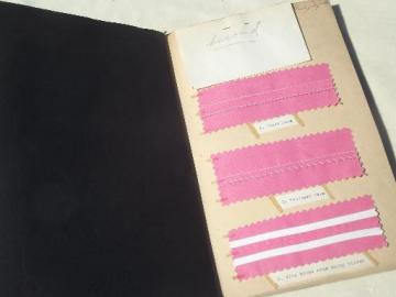 vintage sewing swatches scrapbook, 40s dressmaking techniques & fancy seams