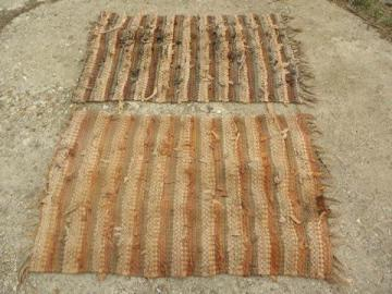 Vintage Hooked Rugs And Rag Rugs