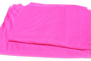 vintage sheer jersey knit fabric, soft light stretchy poly blend, fuschia pink solid