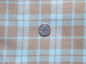 vintage shirting fabric, dot tufted cord dobby weave, retro 60s 70s plaid