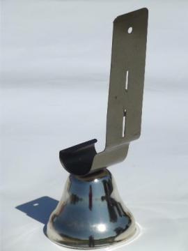 vintage shop bell door mount doorbell w/ nice clear tone, no hardware