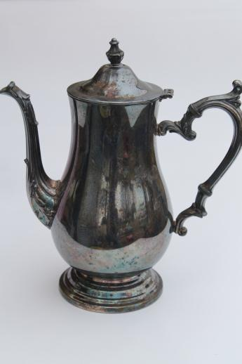 Silver Plated Coffee Pot - Coffee Drinker