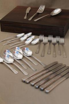 vintage silver plate flatware set, Sovereign Wm Rogers International silver