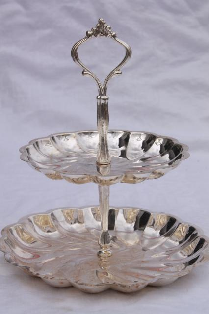 Vintage Silver Plate Serving Pieces Candy Dish Amp Two