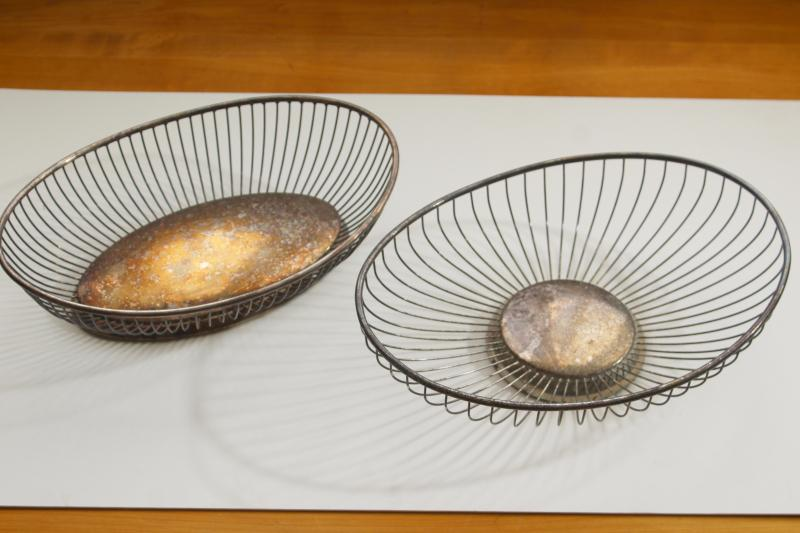 vintage silverplate bread baskets or fruit bowls, oval serving dishes or centerpieces