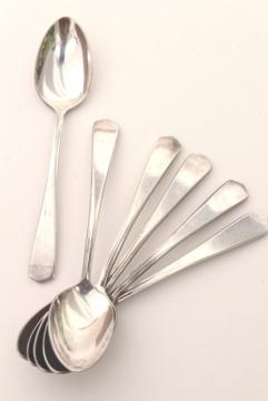 vintage silverplated demitasse spoon set, International silver tiny spoons