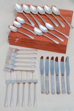 vintage silverware, Vogue silverplate flatware Boulevard pattern silver set