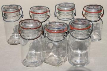 Delicieux Vintage Small Mason Jars, Glass Kitchen Canisters W/ Lightning Lids Storage  Jar