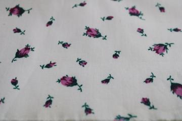 vintage soft crisp cotton fabric w/ tiny purple flowers rosebud print