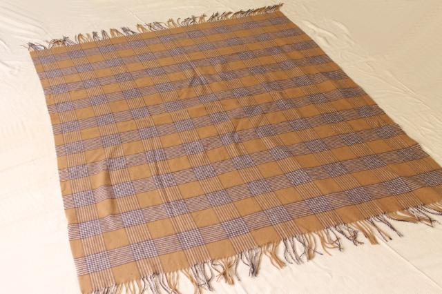 vintage soft wool / cashmere travel blanket, shawl or throw, Burberry plaid?
