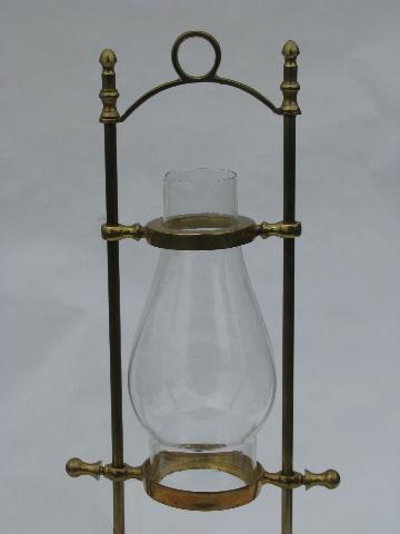 Vintage Solid Brass Adjustable Ship S Table Desk Candle Lamp