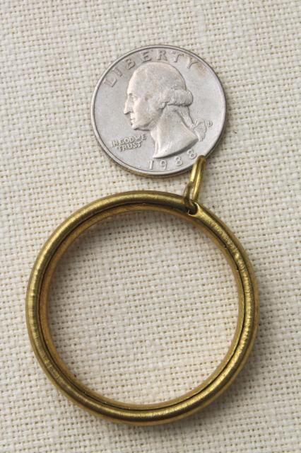 vintage solid brass curtain rings lot drapery hardware for cafe curtain rods