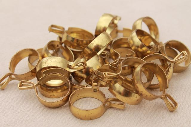 Vintage Solid Brass Curtain Rings Round Ring Curtain