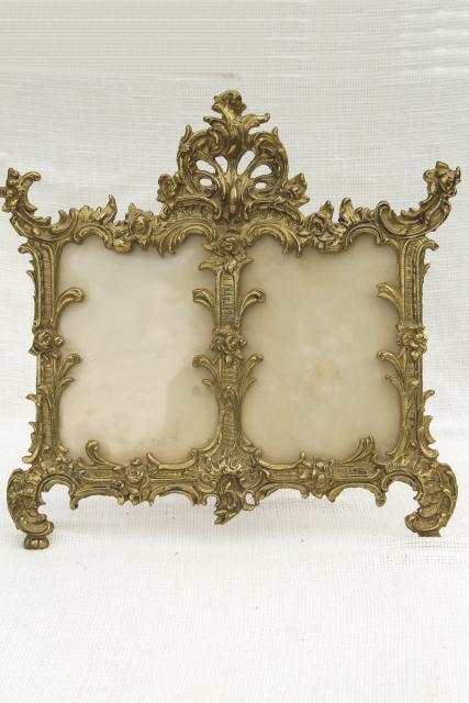 brass frame stand victorian decor,Brass vintage frame