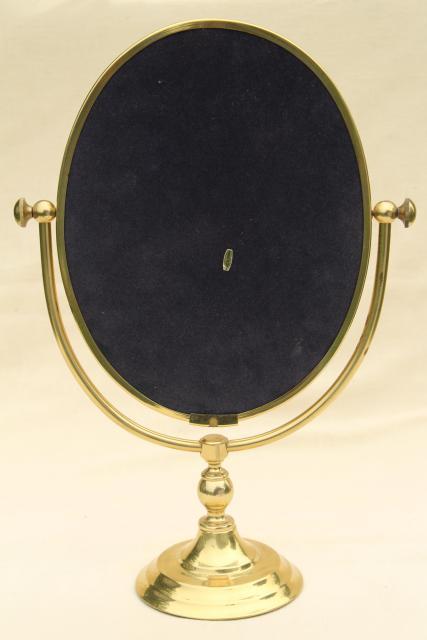 Vintage Solid Brass Vanity Or Shaving Mirror Pivot Frame