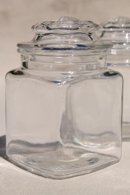 Vintage Spice Rack Amp Set Of Glass Jars W Lids 12 Small