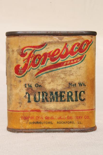 Vintage spice tins autumn harvest kitchen spices pumpkin for Retro kitchen set of 6 spice tins