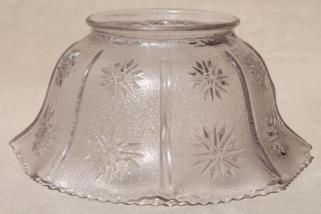 Vintage Stars Pattern Pressed Glass Lamp Shade For Hanging
