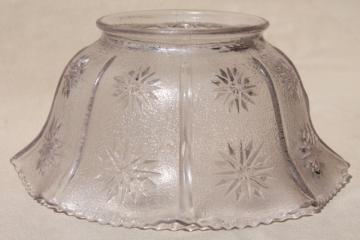 vintage stars pattern pressed glass lamp shade for hanging light pendant