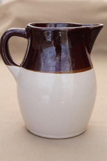 Vintage Stoneware Pitcher Robinson Ransbottom Pottery