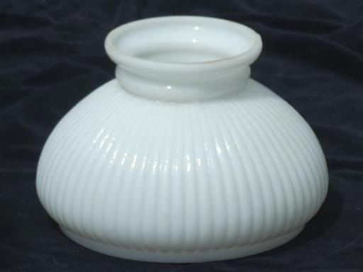 White Milk Glass Lamp Shade: ,Lighting