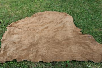 vintage suede or nubuck leather hide for leatherworking crafts, western style sewing
