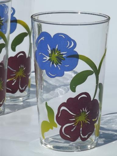 Vintage Swanky Swigs Tumbler Set Drinking Glasses W