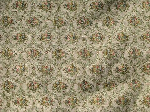 Vintage Tapestry Upholstery Fabric French Antique Floral