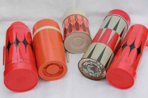 vintage thermos lot, picnic jugs & thermos bottles for camping, picnics, lunch!