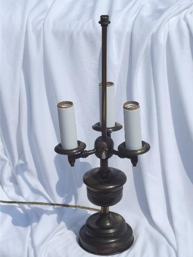 Vintage Three Light Candelabra Candlestick Lamp  Antique