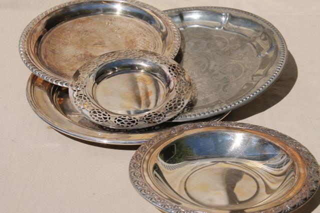 vintage tin tray silver plated trays collection of small serving trays candle trays etc. & vintage tin tray silver plated trays collection of small serving ...