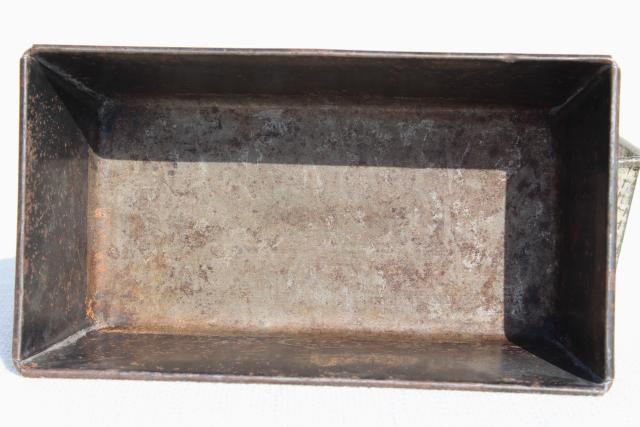 Vintage Tinned Steel Bread Loaf Pans Ovenex Amp Ekco Metal