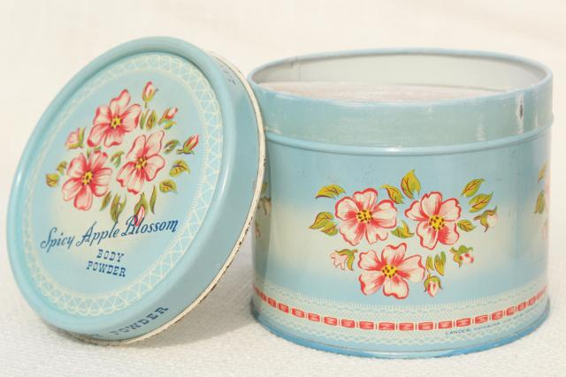 Commat For Bathroom : vintage tins from bath powder, pretty flowered vanity boxes from ...
