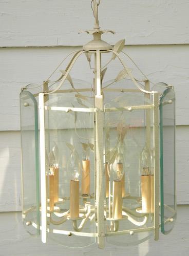 vintage tole lantern chandelier hanging light fixture or lamp