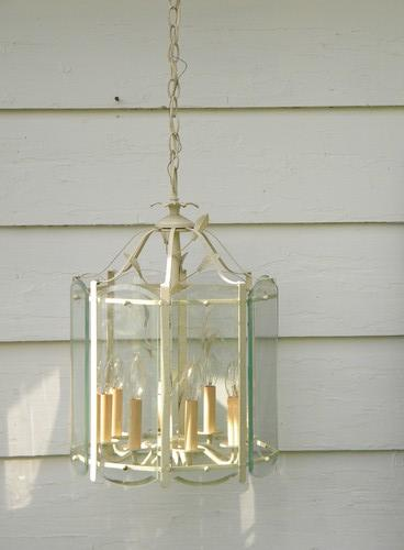 vintage tole lantern chandelier hanging light fixture or lamp