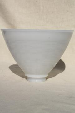 vintage torchiere shape lampshade, white milk glass diffuser reflector shade