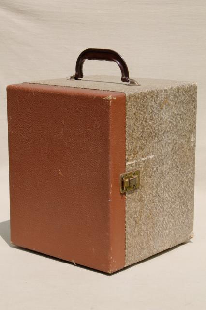 Vintage Travel Case Record Box Suitcase Folding Portable