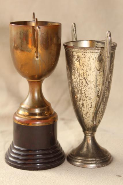 Vintage Trophies Miniature Trophy Cup Vases Display Urns