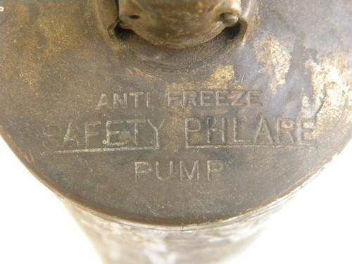 vintage truck/bus/jeep brass fire extinguisher Reddy Safety Phlare, 1926 patent