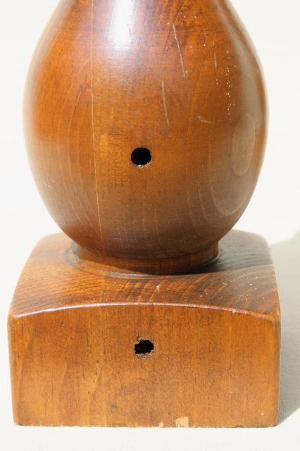Vintage Turned Wood Finials Hat Stand Baluster Banister