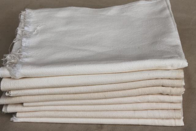 Vintage Unbleached Cotton Feed Sacks Lot Primitive Old