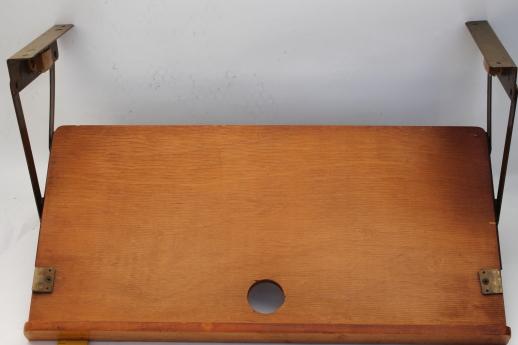 vintage under cabinet pull down kitchen shelf / cookbook stand ...