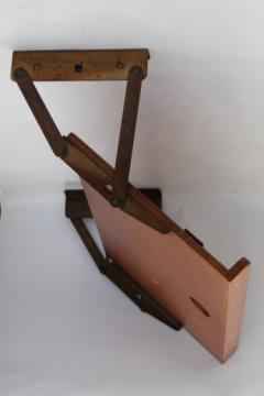 Vintage Under Cabinet Pull Down Kitchen Shelf Cookbook Stand Solid Wood W Original