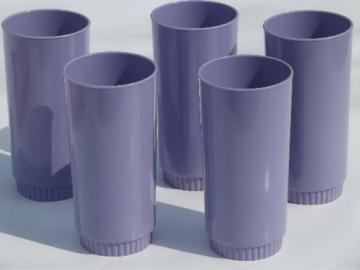 vintage violet purple melmac, retro Royalon melamine plastic tumblers